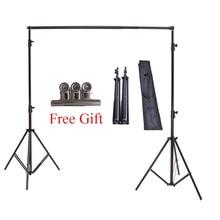 Alta Calidad 2×2 M Estudio Professinal Fotografía Foto Telones de fondo Sistema de Apoyo Antecedentes Stands + Carry Bag Envío Gratis