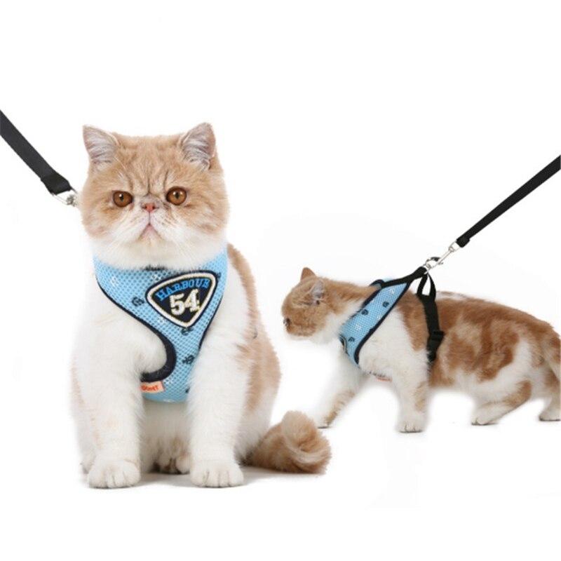 Pet Cat Harness Vest Leashes Suit Navy Blue Pet harness Pet Puppy Cat Harness Leashes for small cat pet