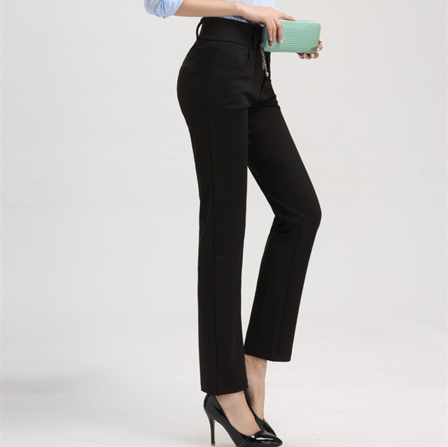 Aliexpress.com : Buy OL Office Formal Straight Work Suit Pants ...