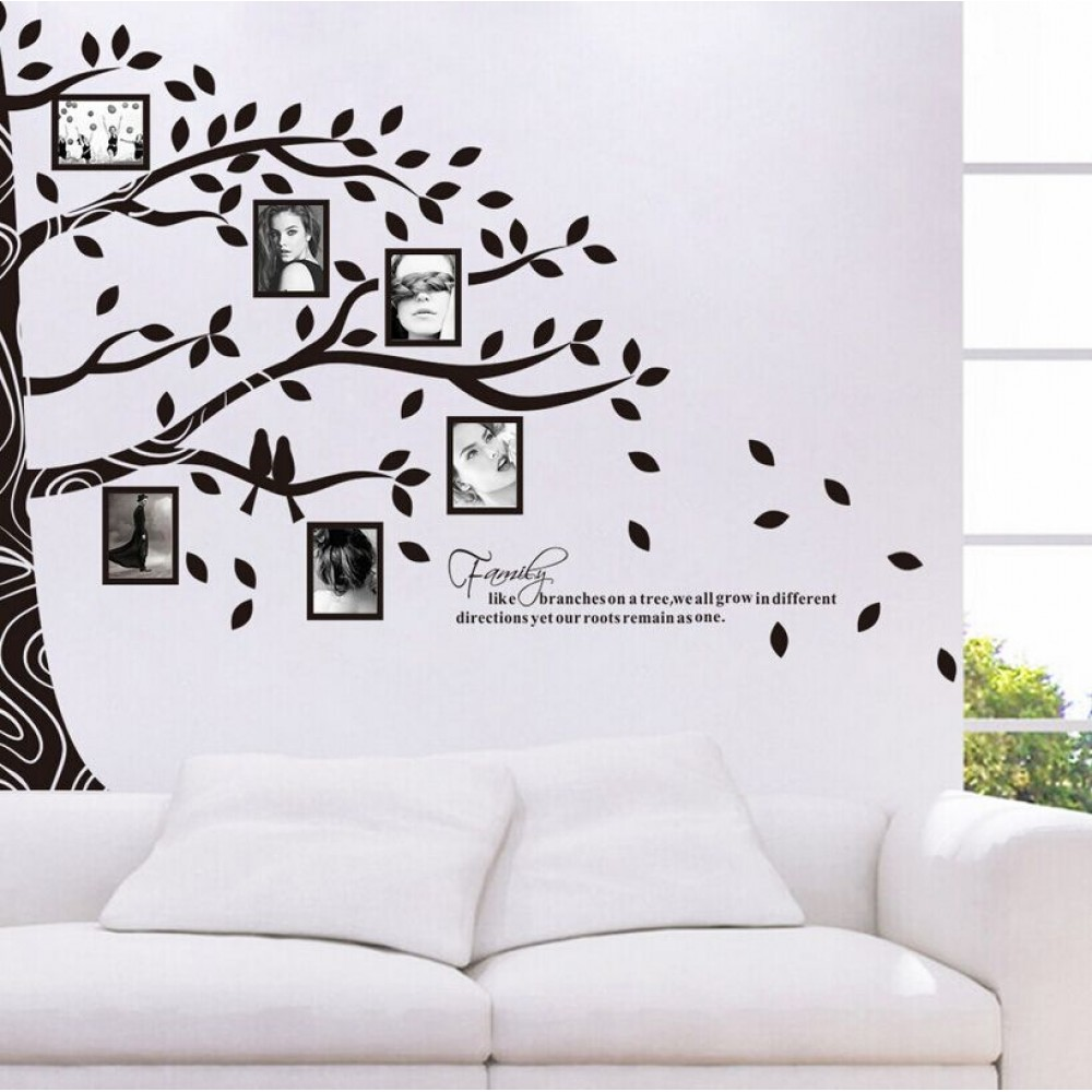 Picture photo frame wall stickers half tree wall sticker family picture photo frame wall stickers half tree wall sticker family tree wall decal tree home decors family wall art zy97ab in wall stickers from home garden amipublicfo Choice Image