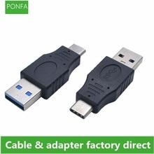 USB タイプ C オス & メス USB 3.0 男性ポートアダプタ USB 3.1 タイプ C に USB3.0 タイプアダプタ USB C ケーブルアダプタコンバータ