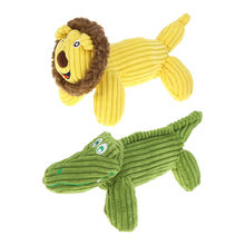 Lion crocodile shape Pet Dog Squeaky Plush Toy Cat Squeaker Sound Chew Fetch Interactive Toy Playing Funny z0510#G30(China)