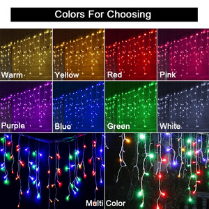 Image 3 - SVELTA 6M LED Garland Christmas Curtain Lights Icicle Fairy Lights outdoor For Holiday Wedding Xmas Party Ramadan Decorations