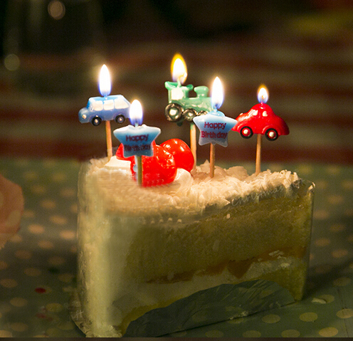 Free Shipping Child Birthday Cake Candle Star Car Candles Children Party Themes