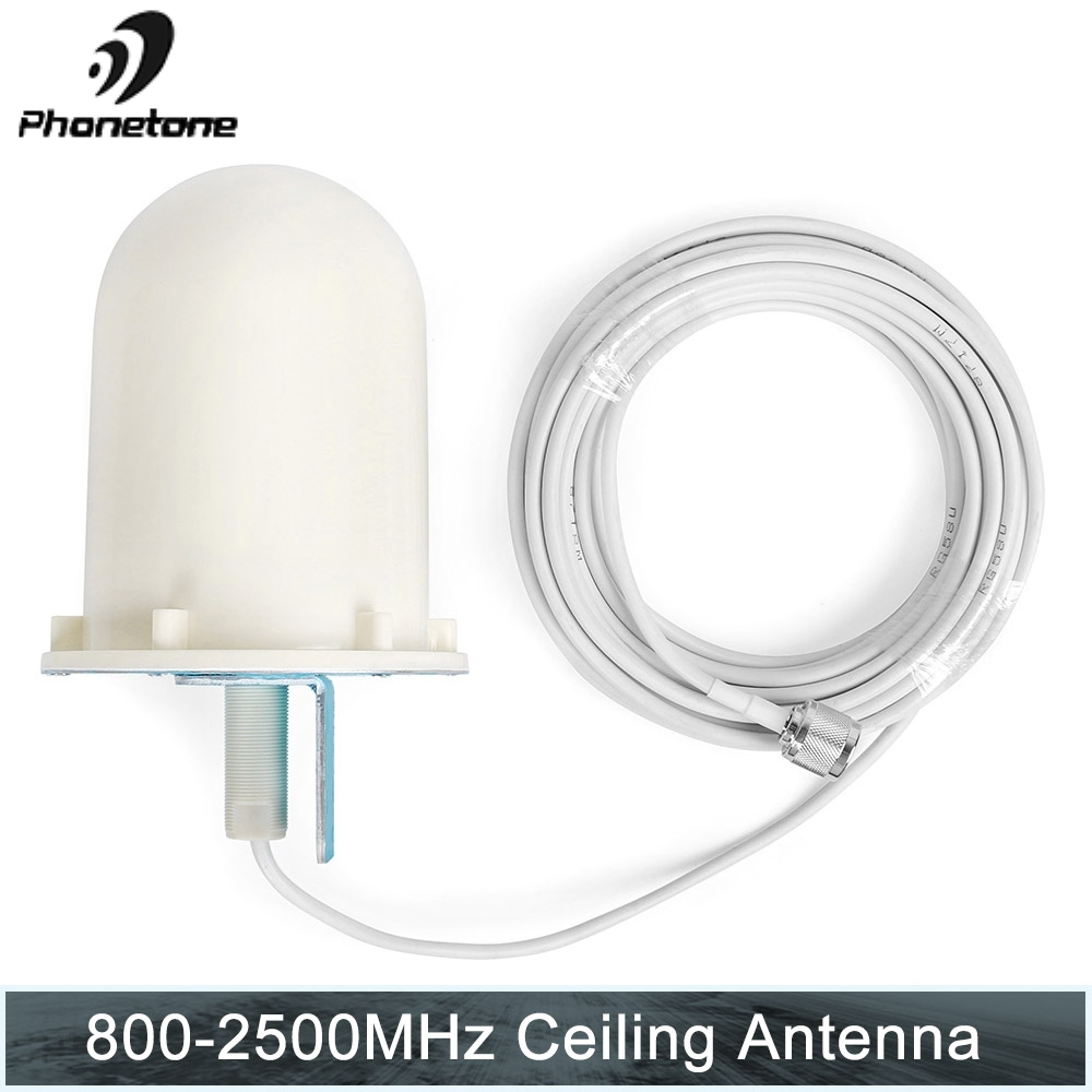 Outdoor Omni Directional Tube Antenna 2G 3G 4G 800-2500MHz 6dBi N Male 10m Cable For Cellular Signal Repeater Booster Amplifier