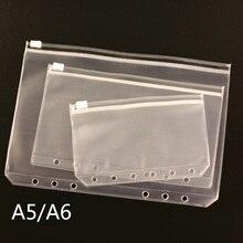 A5 A6 A7 ПВХ Презентация папка на молнии получить сумка в сдержанном стиле Диарио планировщик спиральная карта продуктов держатель сумка