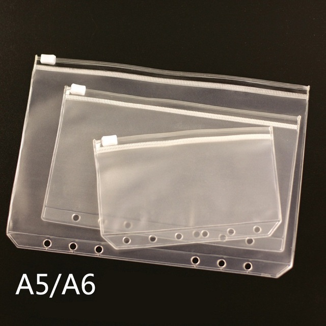 A5 A6 A7 PVC Presentation Binder Folder Zipper Receive Bag Concise Diario Planner's Spiral Filing Products Card Holder Bag
