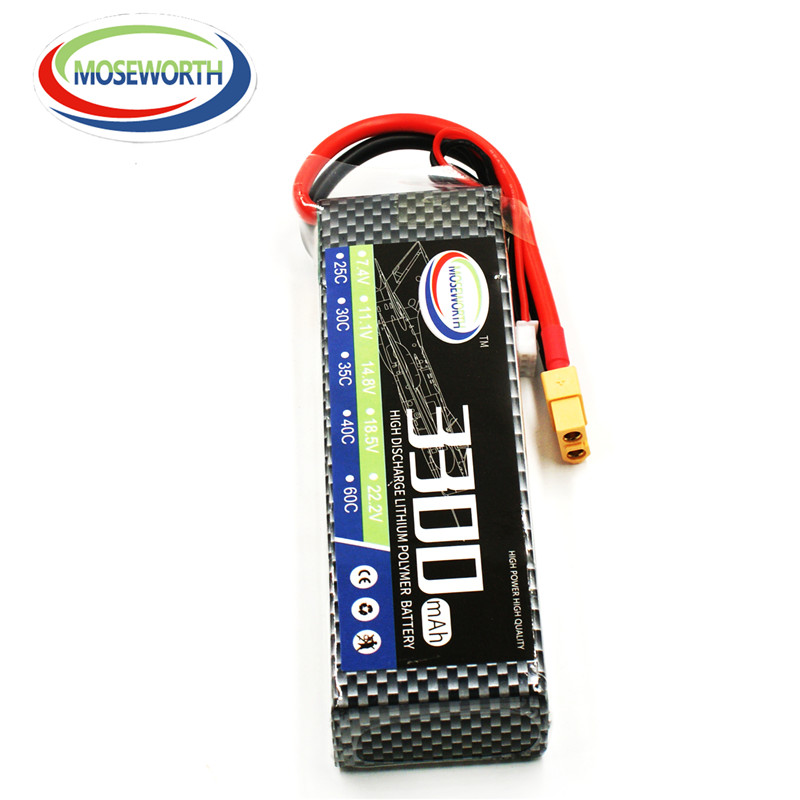 MOSEWORTH RC Drone lipo battery 4S 14.8V 3300mAh 40C-80C For RC Airplane Helicopter Whirlybird Car Li-ion Batteria AKKU