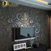 Alta calidad 0,7 m * 8,4 m moderno de lujo 3d papel pintado rollo mural papel de parede flocado para papel de pared a rayas 5 colores R136