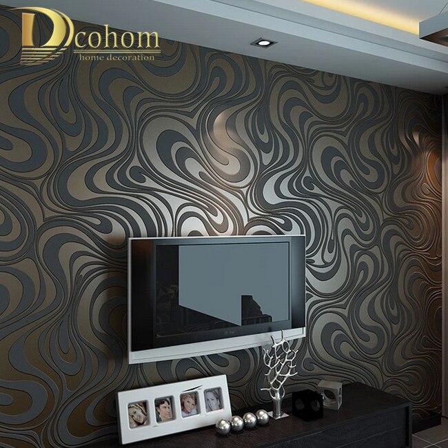Di alta qualità 0.7 m * 8.4 m Moderna di Lusso 3d carta da parati rotolo murale papel de parede floccaggio per carta da parati a righe di carta 5 colore R136
