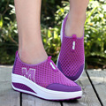 Fashion 2017 Women Casual Shoes Autumn Height Increasing Breathable Women Walking Flats Trainers Shoes Spring