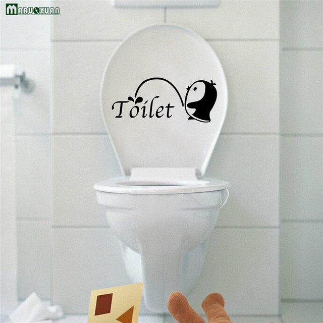 Cute Cartoon Personality Small Penguin Toilet Paste Bathroom Paste ...