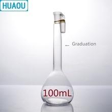 HUAOU 100 мл объемная колба класс нейтральное стекло с одной градацией и стеклянной пробкой лабораторное химическое оборудование