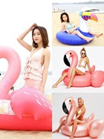 Pringting flower Inflatable Flamingo Swimming Float Tube Raft Adult Kids giant pool float Swim Ring Summer Water Fun Pool Toys