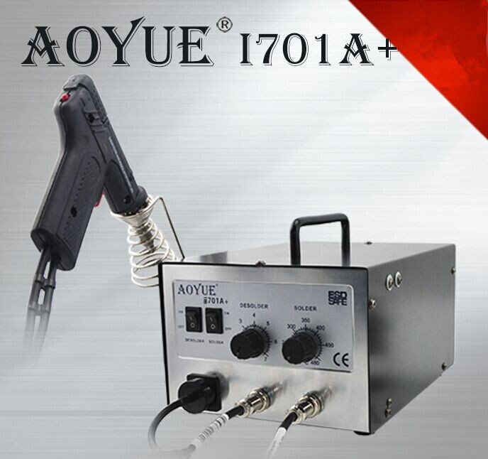 1pc 110/220V AOYUEI701A+ ESD repairing system BGA Desoldering Station Solder Sucker+ Soldering station 2 in1 1 pc 1 5m 5ft solder wick remover desoldering braid wire sucker cable fluxed flux