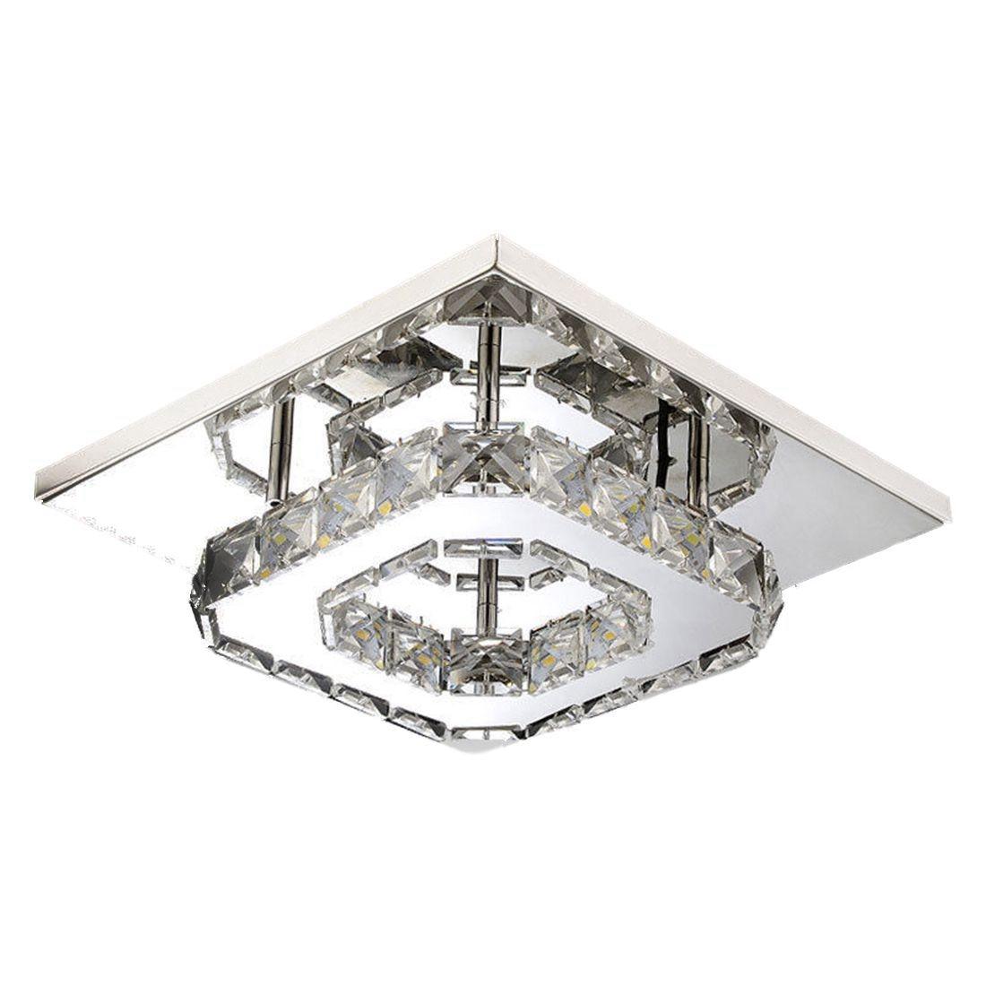 BIFI-20 cm de aço inoxidável luz de teto cristal luz do corredor lustre de cristal led lâmpada do teto luz chandelie