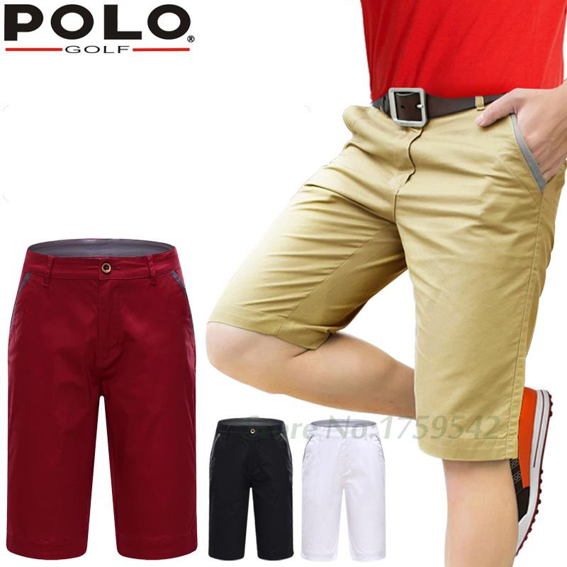 2016 Brand POLO Authentic Golf Men's Shorts Cotton High Quality Quick Dry solid LOGO trousers Plus Size Big Summer Golf Shorts polo authentic high quality golf gun bags pu waterproof laoke lun men travelling cover 8 9 clubs 123cm golf bolsa de sport bag