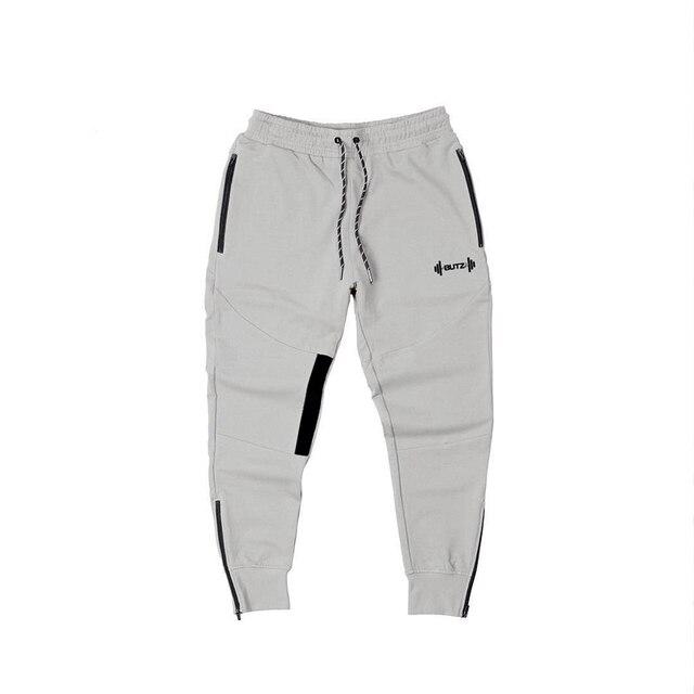 muscle men's Sweatpants fitness training joggers casual Autumn cotton Sweatpants Fashion streetwear pants men Elastic waistband 5
