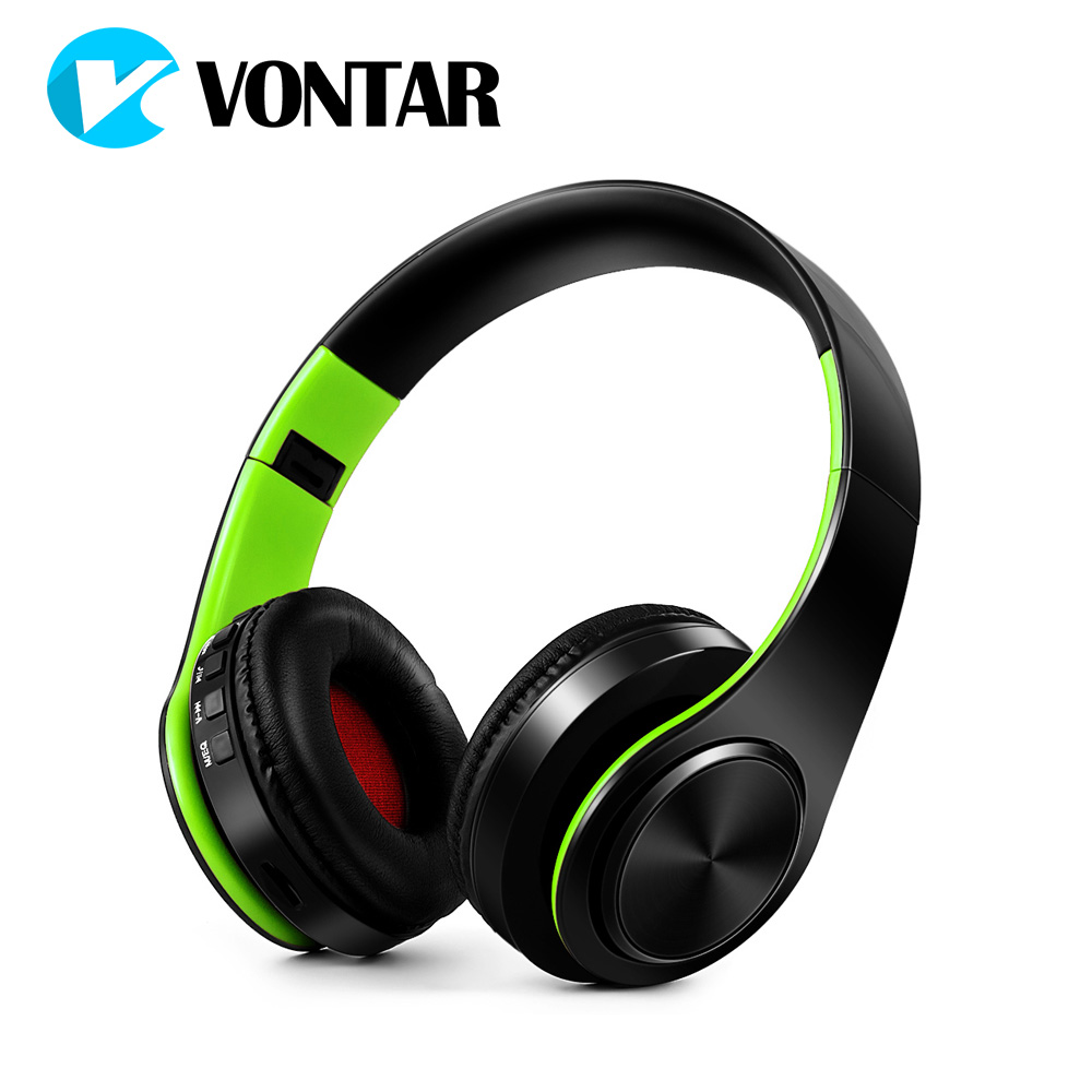VONTAR Hifi Headsets Wireless headphone Bluetooth 4.0 folding with mic support TF card FM Noise Cancel For Xiaomi Huawei Iphone 20w bluetooth4 1 speaker wireless hifi portable feature fashionable appearance design and high 5000mah support tf card with mic