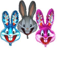 Bugs Bunny Rabbit Head Foil Animal Balloons Cartoon Looney Tunes Animal Ballons Children Classic Toys  easter decoration