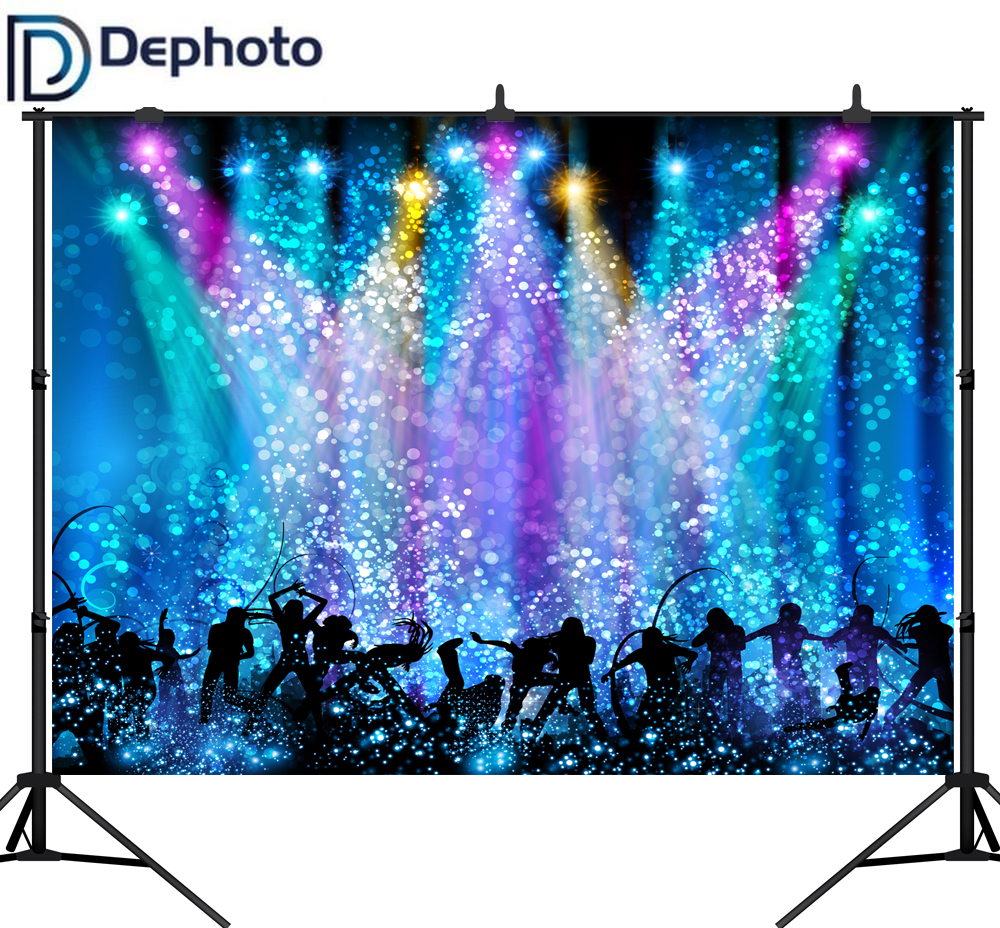 DePhoto Photography Backdrop Disco Party Music Dance Light Carnival Photo Background Studio Shoot Photocall Photophone Decor image