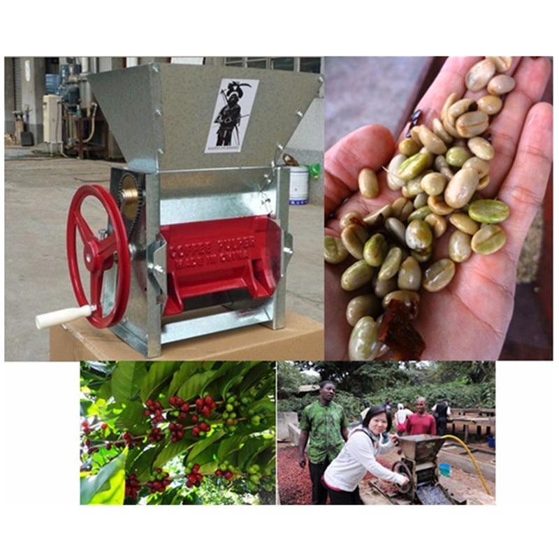 Manual fresh coffee beans peeling pulping pulper machine cocoa bean extractor sheller