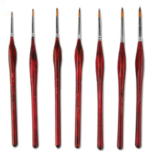цена на 9Pcs paint brush miniature detail Fineliner nail painting brush wolf hair paint brush for acrylic painting supplies