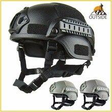 Качественный Легкий Быстрый Шлем MICH2000 страйкбол MH Тактический шлем Открытый тактический Painball CS SWAT для верховой езды защитное оборудование