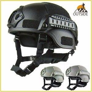 Image 1 - Qualität Leichte SCHNELLE Helm MICH2000 Airsoft MH Taktische Helm Freien Taktische Painball CS SWAT Reiten Schützen Ausrüstung