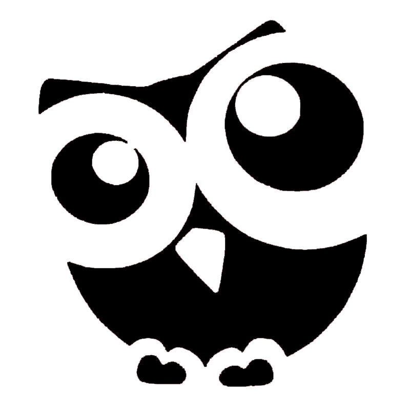 Cute Owl Abstract Cartoon Animals Graphics Car Sticker for Truck Window Bumper SUV Auto Door Laptop Kayak Car Styling Jdm in Car Stickers from Automobiles Motorcycles