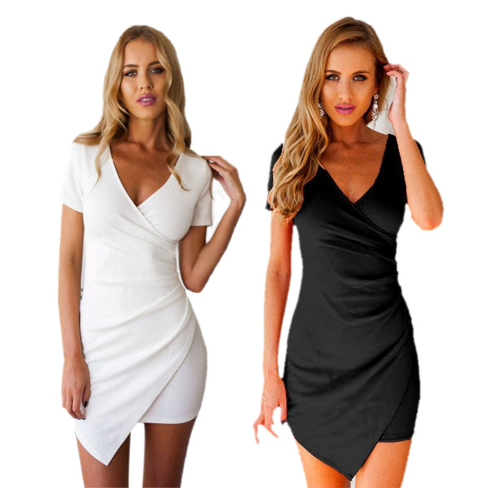 <font><b>2018</b></font> Irregular Summer <font><b>Dress</b></font> White Black Party <font><b>Dresses</b></font> Women Bodycon <font><b>Luxury</b></font> <font><b>Sexy</b></font> <font><b>Dress</b></font> Femme vestidos XXL image