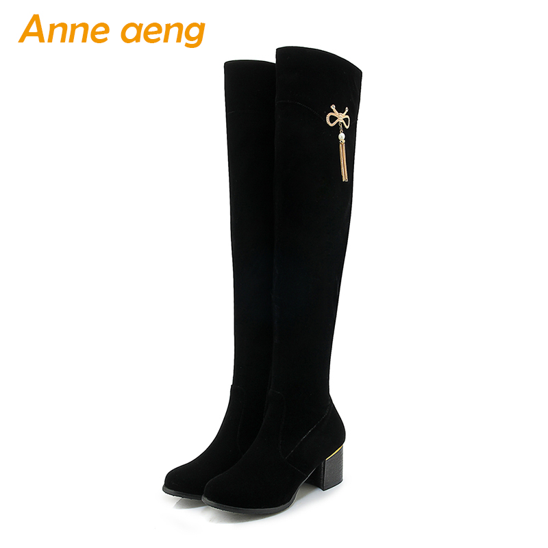 2019 new autumn winter women boots over the knee thigh high boots zip ladies sexy snow boots black women shoes big size 33-43 meotina women boots high heels thigh high boots winter sexy over knee boots ladies autumn shoes black white shoes big size 10 43