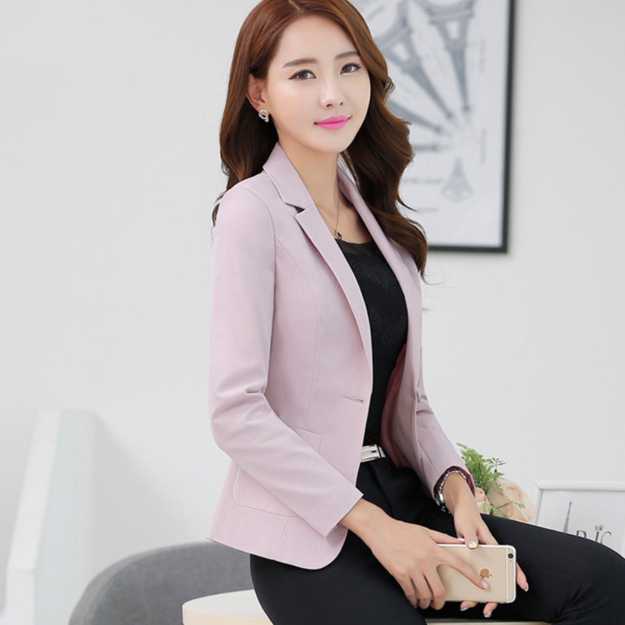 Casual Slim Woman Blazer Elegant Office Jackets Women Black Blazer Korean Fashion Traje Mujer Plus Size Jacket Cardigan KC5C072
