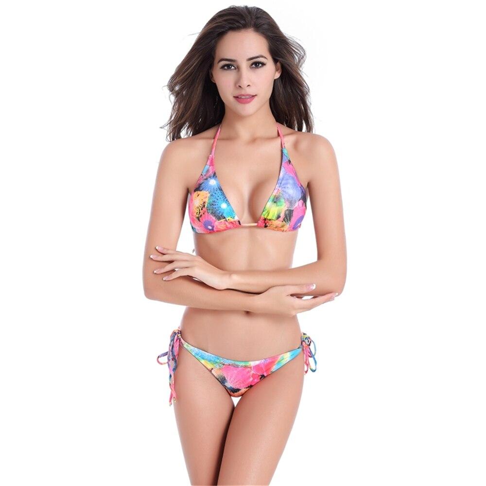 2017 nueva sexy bikinis mujeres traje de baño trajes de baño de cintura baja tra