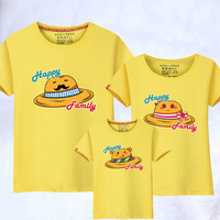 New Spring Summer Family Matching Baby Girls Boys Tshirt Cute Hat Print Outfits Clothing 1Piece Mother Son Daughter Outfits