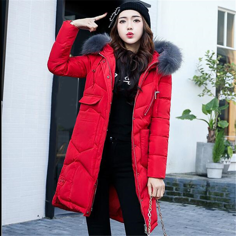 De Green Capuchon ardoisé Filles Veste 2018 rouge Grands D'hiver Style Élégant Femmes M Mode Chantiers 3xl Coton Épais À Manteau army Parka Noir Down Survêtement gris rose Collar Chaud Fur Nouvelle Long red bleu Gray faawFx8O