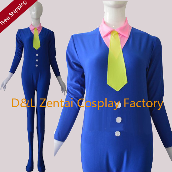 Free Shipping DHL Adult Royal Blue Fashion Tight Lycra Spandex Suit DC1102