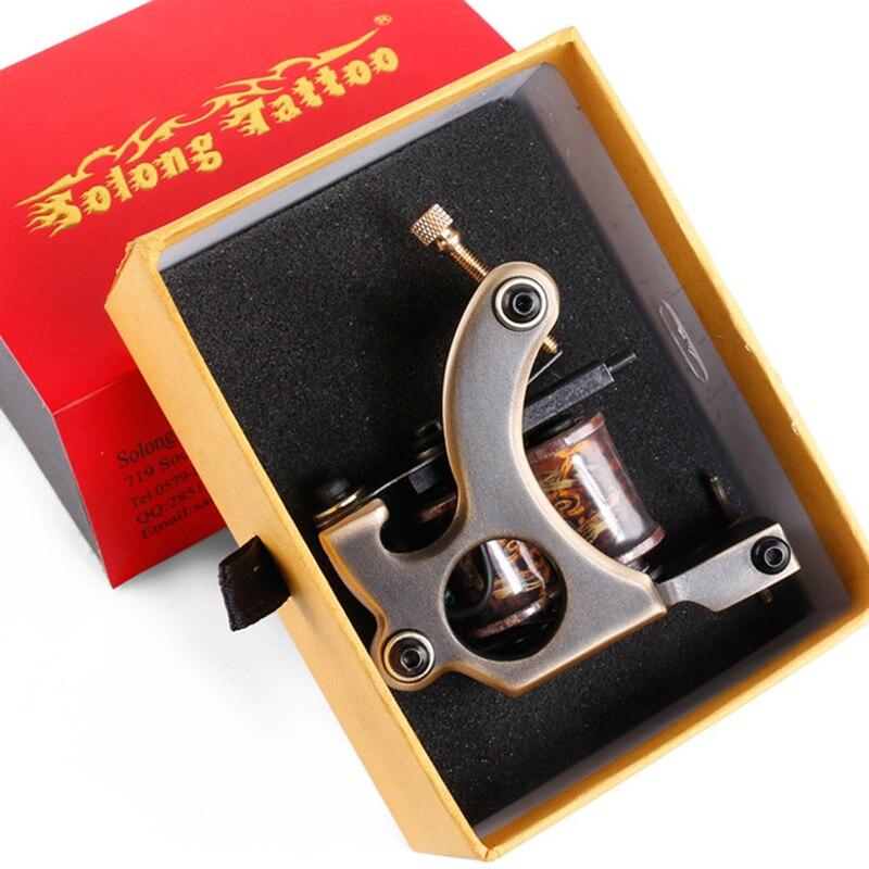 Tatouage cuivre bobines tatouage Machine maquillage Permanent pour Machine à la main 12 enveloppes tatouage pistolet Shader Liner