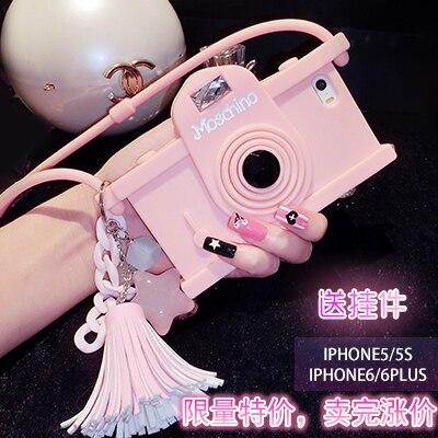 Camera for iphone 7 5 6 SE 5s 5c 6s plus phone case silica gel set cover halter-neck female girl protective shell vintage funny sony sony srs x11 беспроводной музыкальный куб портативный динамик белый