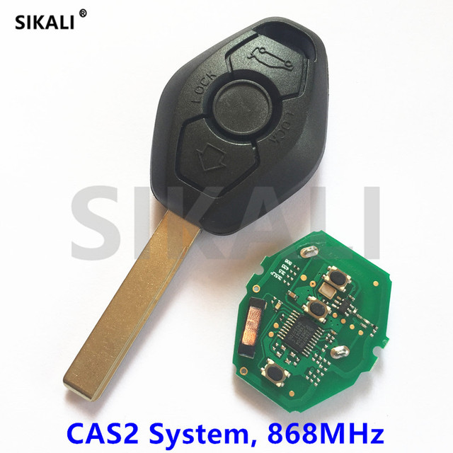SIKALI Car Remote Key for BMW 3/5 Series 868MHz with ID46-7945/7953 Chip HU92 Blade