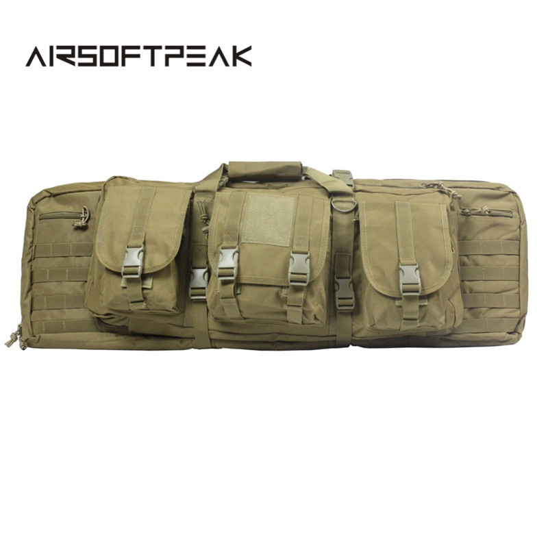 AIRSOFTPEAK Tactical Gun Bag Military Rifle Carry Backpack For 385 Shotgun Protection Case Bag Camping Outdoor Hunting Bag 0 85m heavy duty tactical gun slip bevel carry bag rifle case bag cover shoulder backup pouch hunting shotgun carrying case