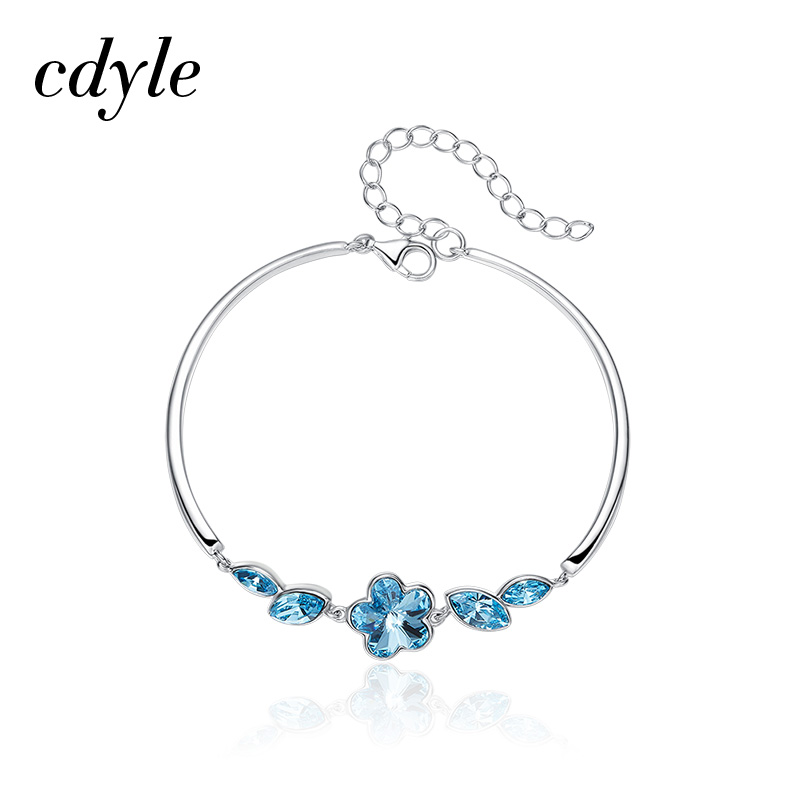 Cdyle Crystals from Swarovski Women Bracelets & Bangles Austrian Rhinestone Paved S925 Sterling Silver Fashion Jewelry Lady Gift cdyle crystals from swarovski bracelets women bracelet for women bangle austrian rhinestone fashion jewelry original design