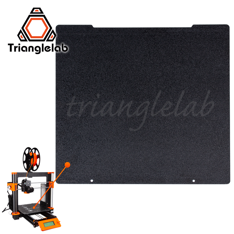 Trianglelab 241 x 252 Double Sided Textured PEI Spring Steel Sheet Powder Coated PEI Build Plate For Prusa i3 MK2 5S Mk3 MK3S