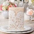 1pcs Sample White Rose Vine Hollow Laser Cut Luxury Wedding Invitations Card Elegant Envelopes & Seals Wedding Party Supplies