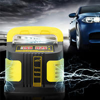 Full Automatic Motorcycle Car Battery Charger LCD Display 180 250V To 12V/24V Smart Fast Power Charging Lead Acid Battery