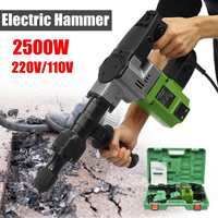 110V/120V 2500W Electric Drill Demolition Jack Hammer Rotary Jackhammer Electric Concrete Drill 2500BPM 4000r/min