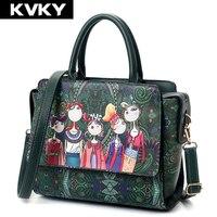 Fashion 2017 Women Ladies Green Forest Handbags Designer Shoulder Messenger Bags Ladies Crossbody Bags Mini Trapeze
