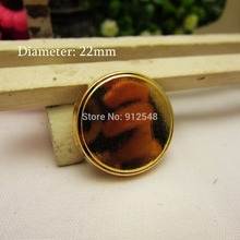 RJ9265,10pcs,Smooth metal button in Gold color,Classic fashion buttons, garment accessories DIY materials