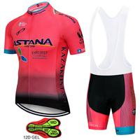 2018 Team Astana Cycling JERSEY Bike Shorts set Quick Dry Ropa Ciclismo Mens Breathable Bicycle clothing summer pro Cycling wear