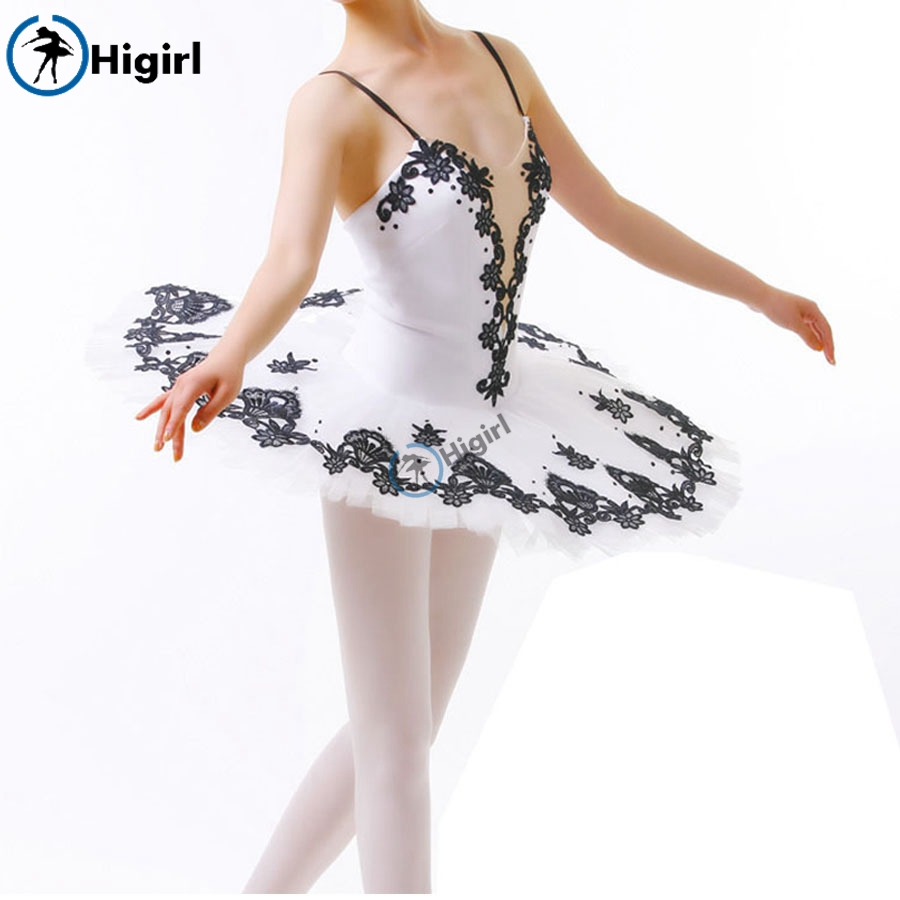black white professional tutu for girls black tutu dance adult ballerina costumes classical ballet tutusBT8934C